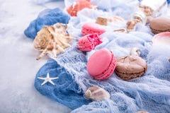 Maccherone assortito dei biscotti di mandorla Fotografie Stock