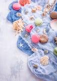 Maccherone assortito dei biscotti di mandorla Fotografia Stock Libera da Diritti
