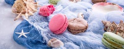 Maccherone assortito dei biscotti di mandorla Immagine Stock Libera da Diritti