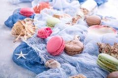 Maccherone assortito dei biscotti di mandorla Immagini Stock