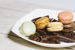 Maccheroni con cioccolato Fotografie Stock Libere da Diritti