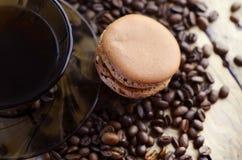 Maccheroni con gusto del caffè fotografia stock libera da diritti