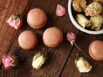 Maccheroni del cioccolato con la cagliata di limone Immagine Stock Libera da Diritti