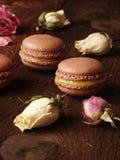 Maccheroni del cioccolato con la cagliata di limone Fotografia Stock Libera da Diritti