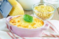 Maccheroni e formaggio Fotografia Stock Libera da Diritti