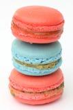 Maccheroni francesi. Dessert Fotografie Stock