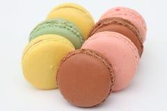 Maccheroni francesi. Dessert Fotografia Stock Libera da Diritti