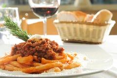 Maccheroni italiano Foto de Stock