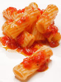 Maccheroni pasta in tomato sauce Royalty Free Stock Photography