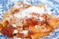 Maccheroni with tomato sauce Royalty Free Stock Photo