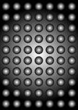 Macchi la priorità bassa illuminata Fotografia Stock