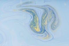 Macchia acrilica liquida di colore immagine stock