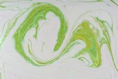 Macchia acrilica liquida di colore fotografie stock libere da diritti