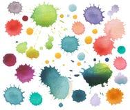 Macchia astratta dell'acquerello di colore isolata Immagini Stock Libere da Diritti