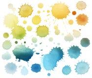 Macchia astratta dell'acquerello di colore isolata Immagini Stock