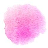 Macchia astratta rosa dell'acquerello Struttura di vettore Fotografia Stock Libera da Diritti