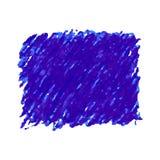 Macchia blu di struttura dello scarabocchio della penna isolata su fondo bianco Fotografia Stock