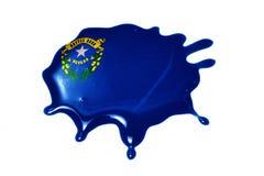 Macchia con la bandiera dello stato del Nevada Immagine Stock Libera da Diritti