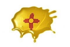 Macchia con la bandiera dello stato del New Mexico Fotografia Stock Libera da Diritti