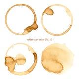 Macchia del caffè Fotografie Stock