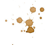 Macchia del caffè isolata fotografie stock libere da diritti