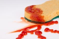 Macchia del ketchup Immagini Stock Libere da Diritti