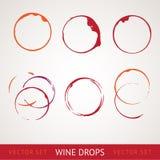 Macchia del vino rosso Fotografie Stock Libere da Diritti