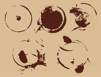 Macchia dell'estratto del caffè Fotografia Stock
