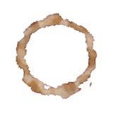 Macchia della tazza di Coffe isolata Fotografia Stock