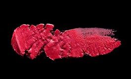 Macchia dentellare del rossetto Immagine Stock