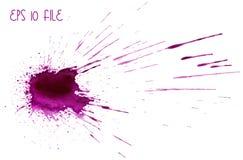 Macchia di rosa dell'acquerello Fotografia Stock Libera da Diritti