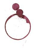 Macchia di vetro di vino Immagine Stock Libera da Diritti