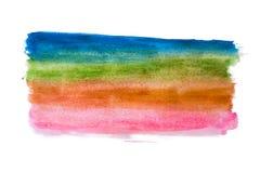 Macchia fatta a mano dell'estratto multicolore dell'acquerello Immagine Stock