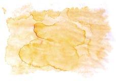 Macchia isolata astratta di giallo arancio Immagini Stock