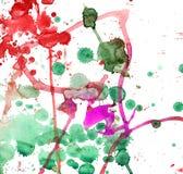 Macchia multicolore della spruzzata dell'acquerello Priorità bassa dell'acquerello Immagine Stock