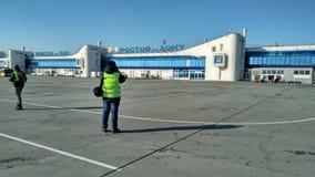 Macchia nell'aeroporto di Rostov-On-Don fotografia stock