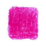 Macchia rosa di struttura dello scarabocchio del pastello isolata su fondo bianco Immagini Stock Libere da Diritti