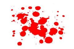 Macchia rossa dell'inchiostro su bianco fotografia stock