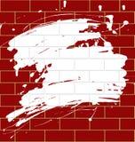 Macchia su un brickwall Fotografia Stock