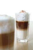 Macchiato. A nice Glass of Latte Macchiato Stock Photo