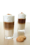 Macchiato. A nice Glass of Latte Macchiato Stock Photography