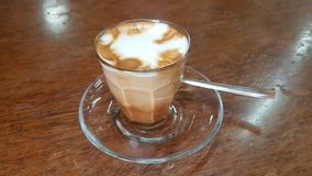 Macchiato coffee in the Tomoca coffee house in Addis Ababa, Ethiopia. Addis Ababa, Ethiopia - October 2017: Macchiato coffee in the Tomoca coffee house Stock Photos