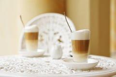 Macchiato del latte di Caffe Fotografia Stock