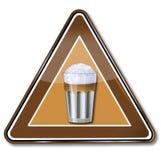 Macchiato del vidrio plano y del latte Imagenes de archivo