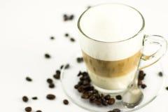 Macchiato delicioso del latte imágenes de archivo libres de regalías