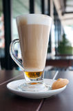 Macchiato on the table Royalty Free Stock Image