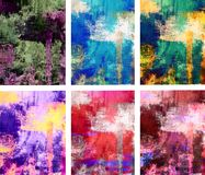 Macchie astratte della pittura impostate di 6 Immagine Stock Libera da Diritti