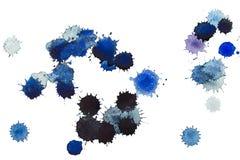 Macchie blu. Watwercolor Fotografia Stock Libera da Diritti