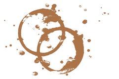Macchie del caffè Immagini Stock