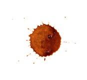 Macchie del caffè Fotografia Stock